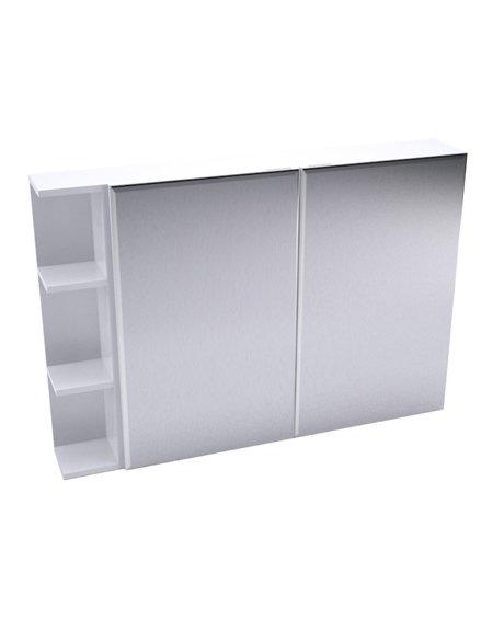 Fienza Bevelled Edge Mirror Cabinet + Single Side Shelves