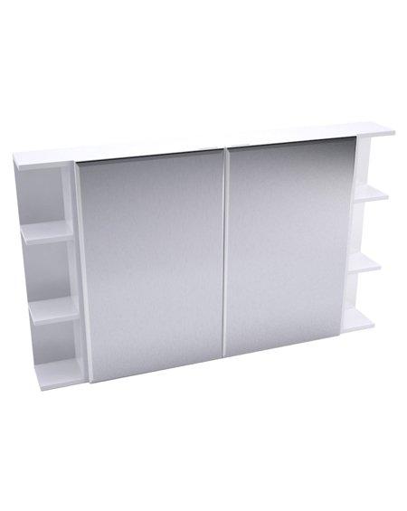 Fienza Bevelled Edge Mirror Cabinet + Double Side Shelves