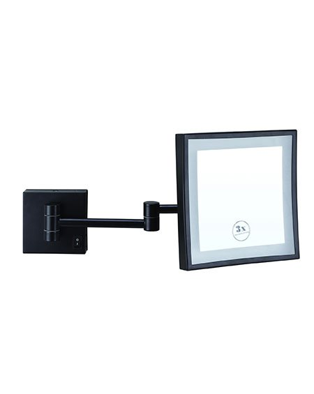 Thermogroup ablaze LS205CSMCB 3x Magnification Mirror with Cool Light Concealed Hardwired Matt Black