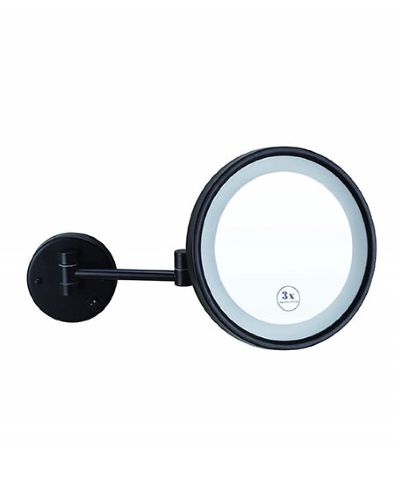Thermogroup ablaze L252CSMCB 3x Magnification Mirror with Cool Light Concealed Hardwired Matt Black
