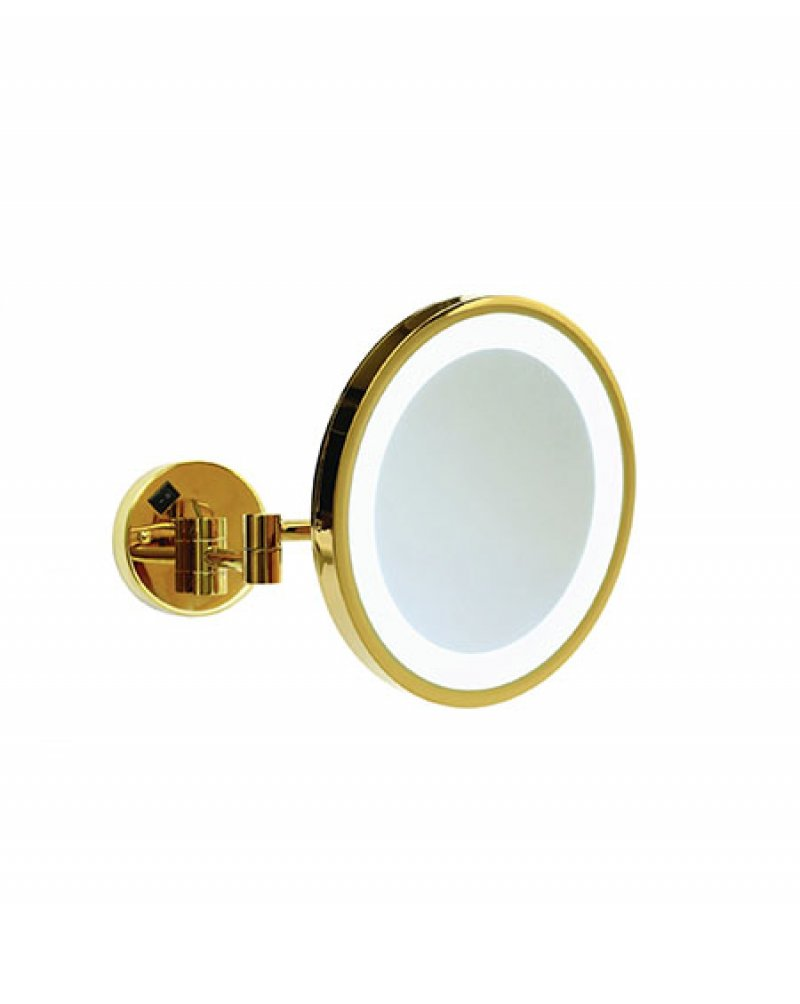 Thermogroup ablaze L252GSMC 3x Magnification Mirror with Cool Light Concealed Hardwire Polished Gold